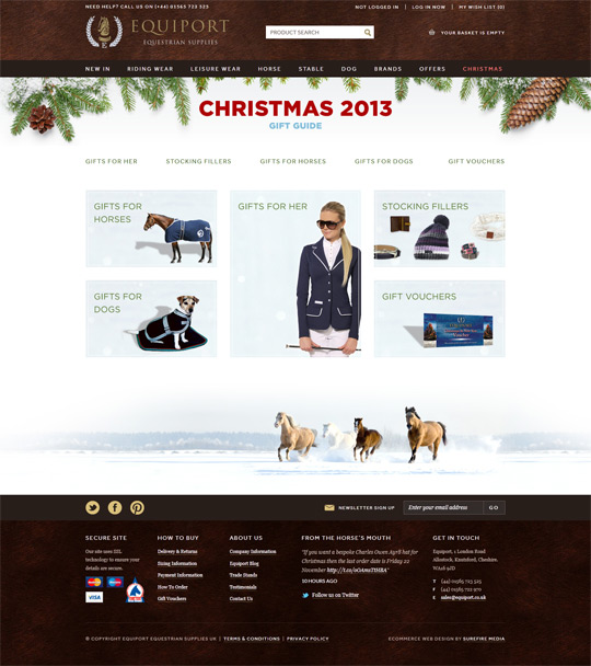 Equiport Christmas Gift Guide Microsite